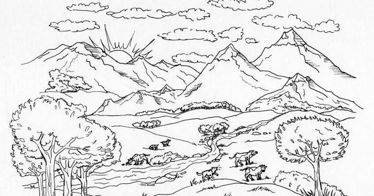 Le montagne - Immagini da colorare delle montagne ...