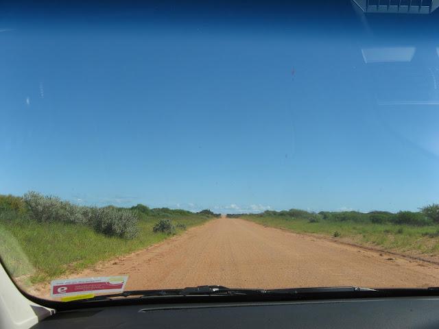 long straight dirt road