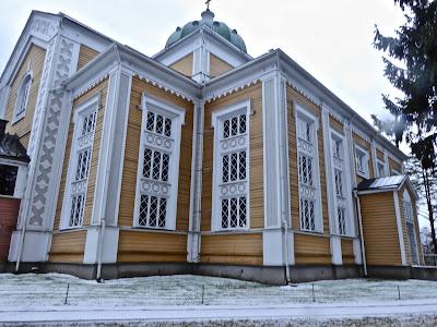 Finlande L'église de Kerimäki où se situe le roman de Arto Paasilinna les mille et une gaffes de l'ange gardien Ariel Auvinen