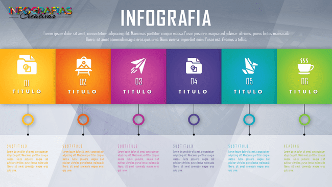 Plantilla infografía animada versátil