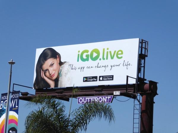iGo Live app billboard