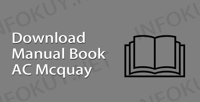 download manual book ac mcquay