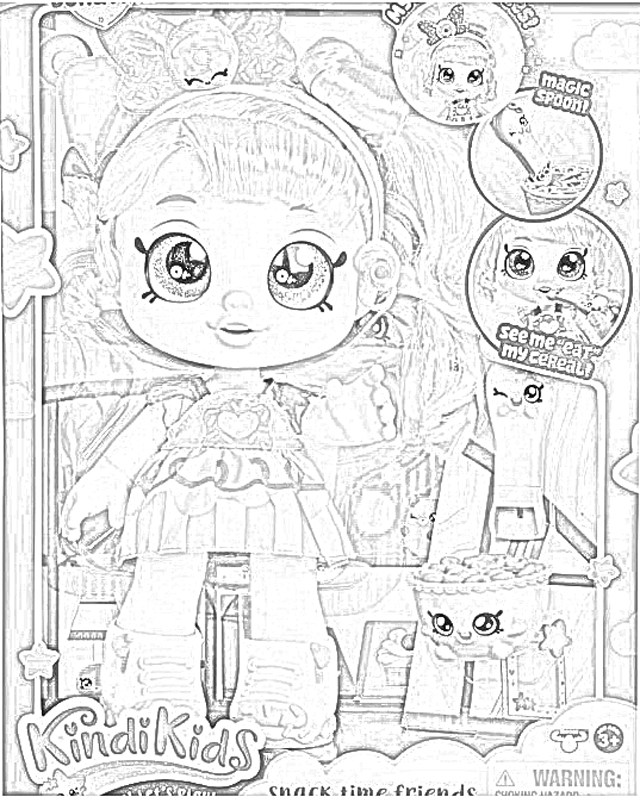 Coloring Pages Kindi Kids Dolls Coloring Pages Free and