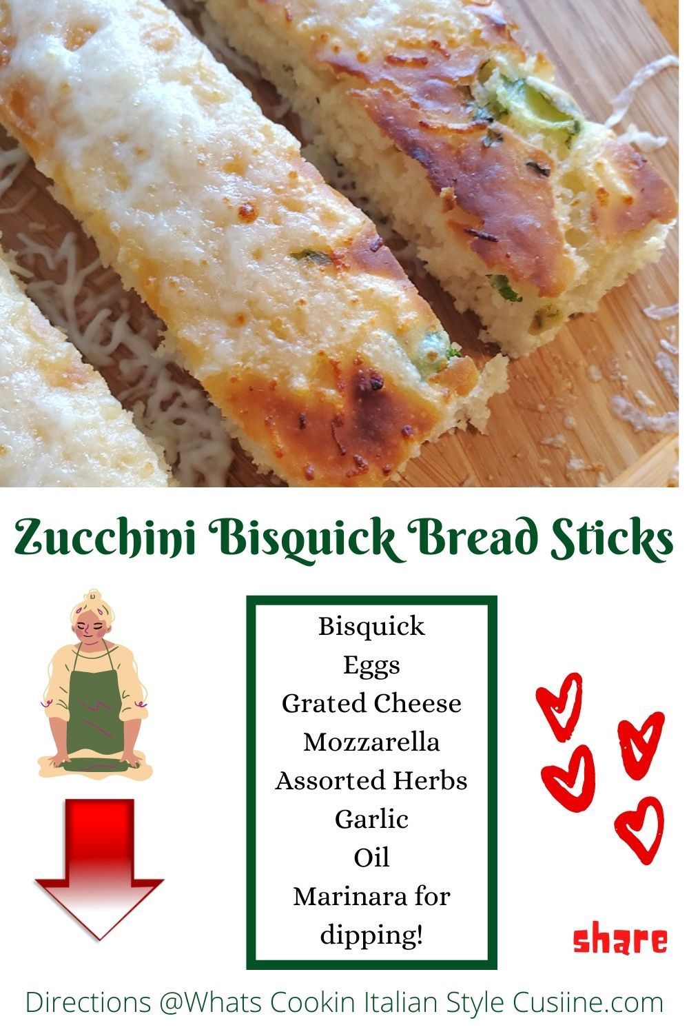 breadstick with zucchini and how to make them pin for later