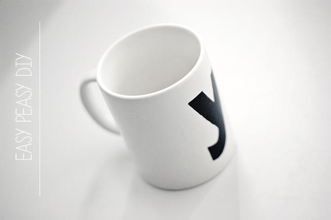 Ynas Design Blog, DIY, Porzellanstift, Tassenmalerei