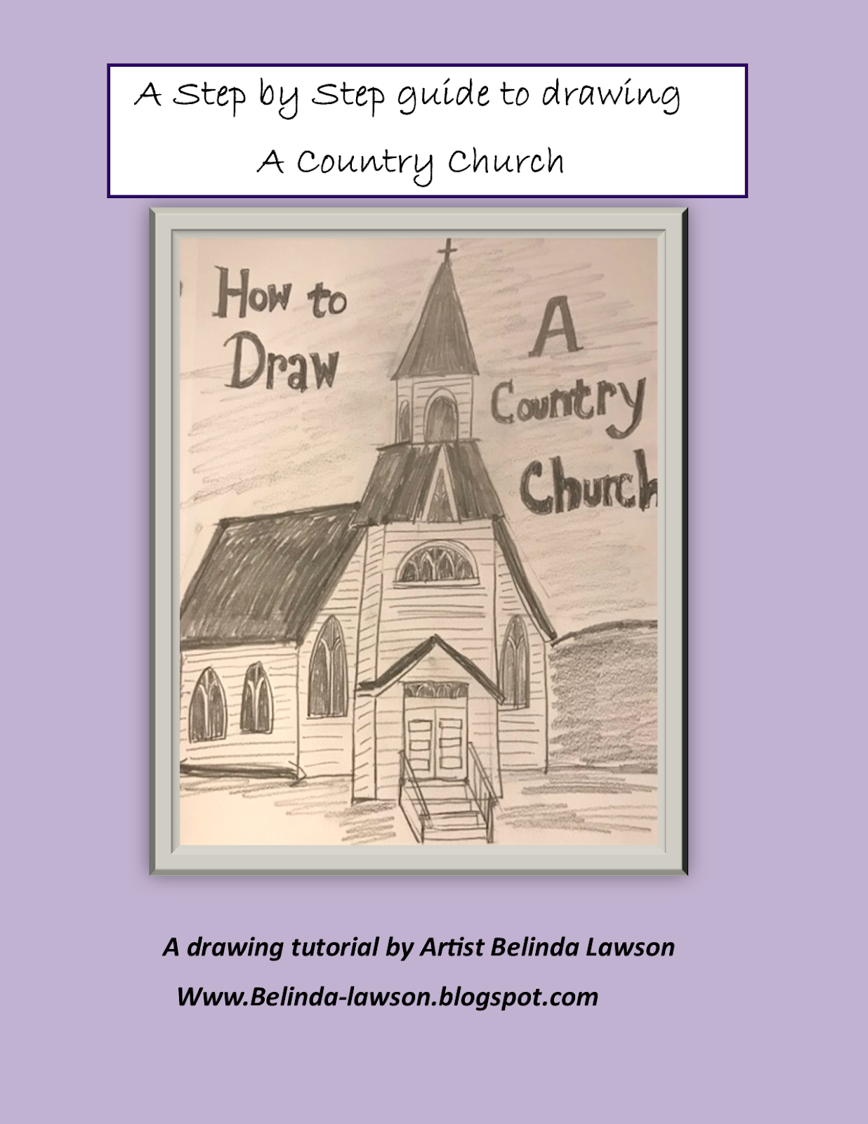 How To Draw A Country Church Step By Tutorial