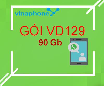 Nhận 90GB/ tháng (3GB/ ngày), 100 phút ngoại mạng, miễn phí nội mạng với gói VD129 Vinaphone! vinaphonevn.com