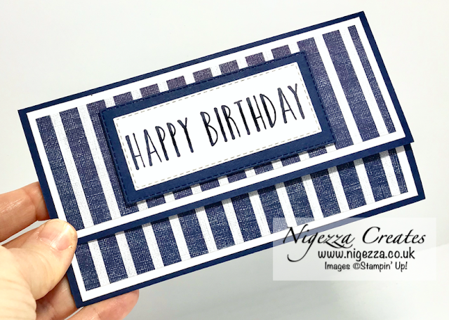 Nigezza Creates with Stampin Up Come Sail Away making a Masculine Money Gift Wallet