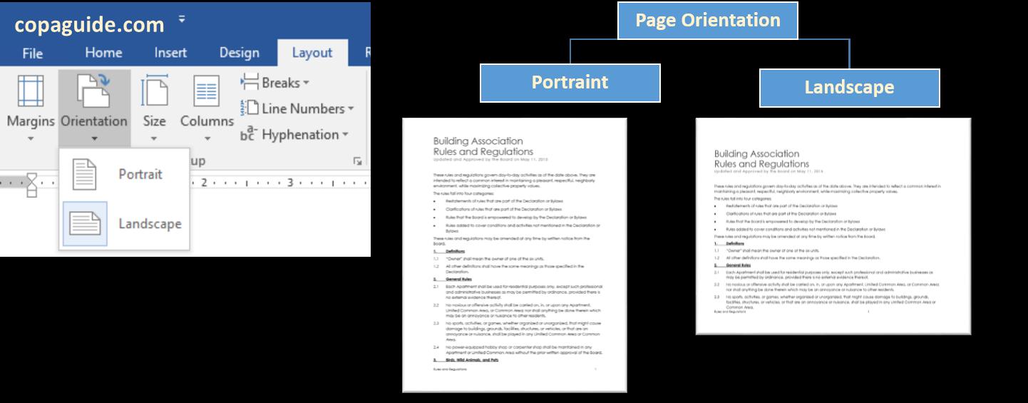 Page Orientation Portrait & Landscape in Word Hindi?