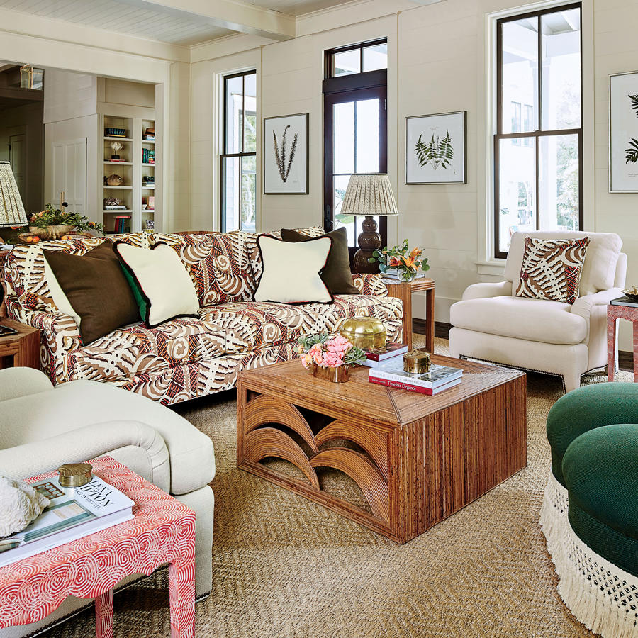 Shelter southern living idea house for Southern living keeping room ideas