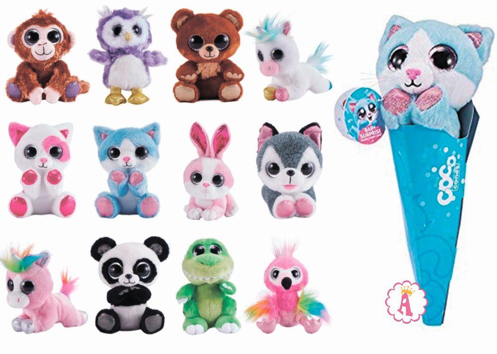 Мягкие игрушки в рожке мороженого сюрпризы Zuru Coco Cones