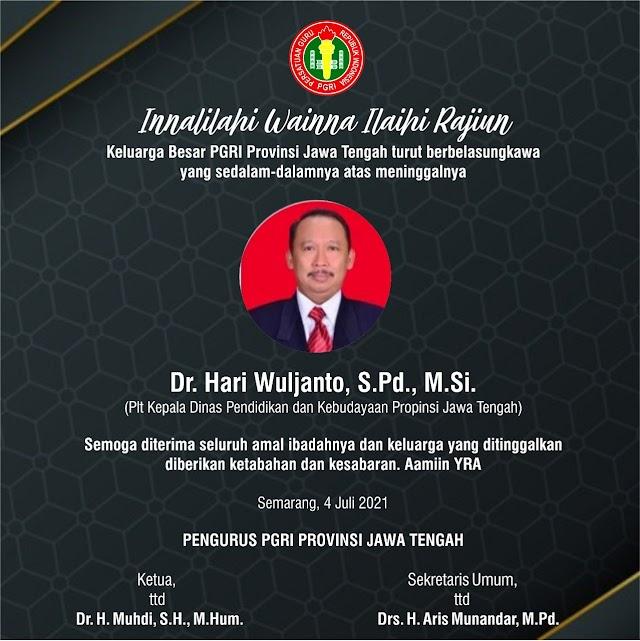 PGRI Provinsi Jawa Tengah Turut Berbelasungkawa
