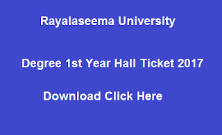 ru ug 1st year hall tickets 2017 download