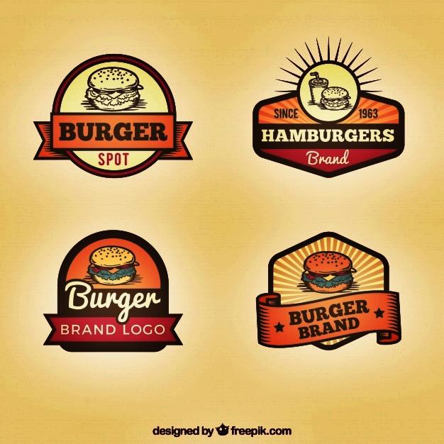 Desain logo makanan burger