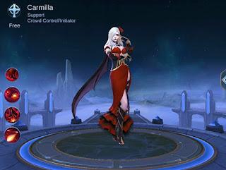 Ini Dia Hero Support Terbaru Carmilla Mobile Legends Yang Sangat OP