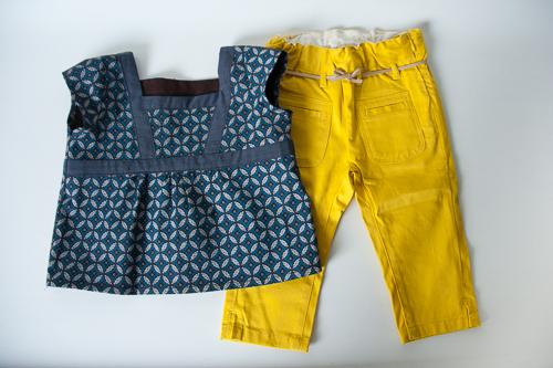 blouse en shweshwe basique pour petites filles