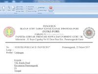 Contoh Surat Undangan Resmi TK/PAUD