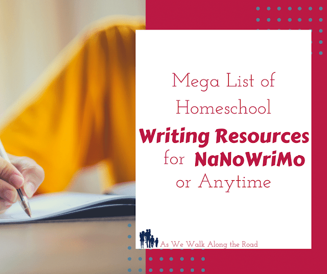 Homeschool writing resources for NaNoWriMo