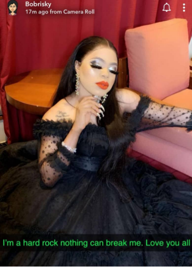 I'm a hard rock, (Bobrisky)