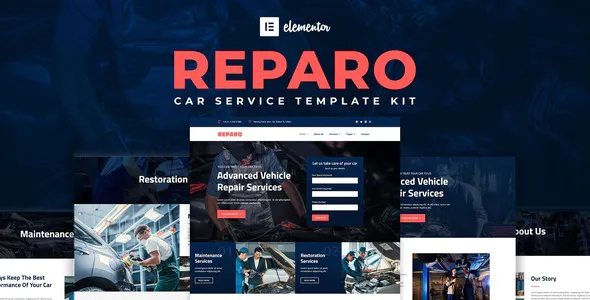 Best Car Service Elementor Template Kit