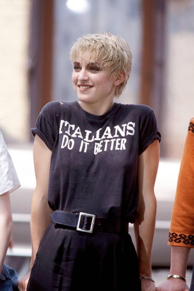 Madonna's coolest pixie haircut.