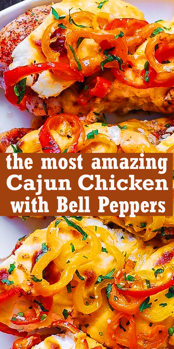 Cajun Chicken with Bell Peppers #Cajun #Chicken #with #Bell #Peppers