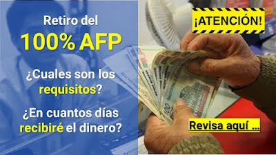 Retiro 100% fondo exAportantes AFP si no han aportado en los ultimos 12 meses. LINK