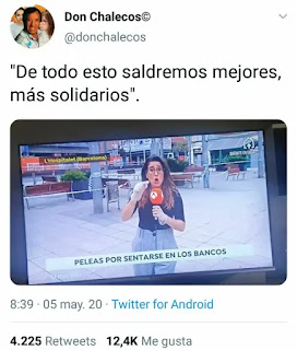 Noticia de una pelea por un banco
