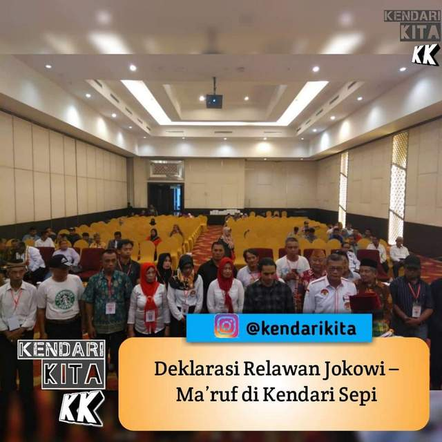 Deklarasi Relawan Jokowi-Ma'ruf di Kendari Sepi, Dari 200 Kursi Hanya Terisi 30