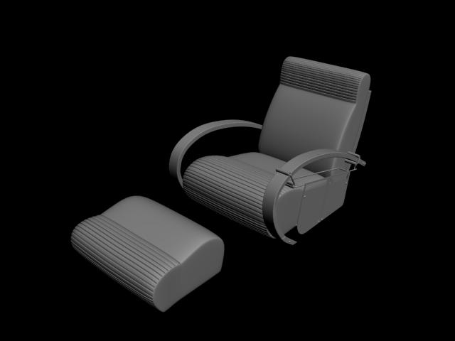 Ayak Eklentili Koltuk Modeli 3D
