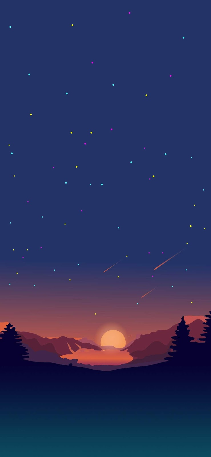 Sunset Digital art Mobile wallpaper | Minimalist - HD ...