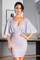 Rochie eleganta cu maneci tip fluture