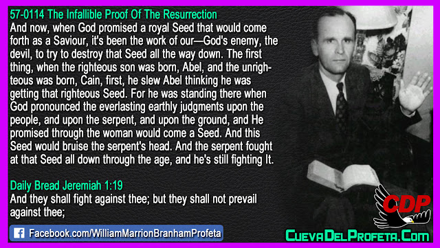 The serpent fought at that Seed all down through the age - William Branham