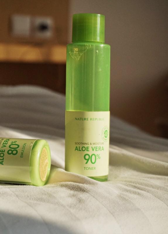 aloe vera toner, nature republic, skin care, hydrating toner