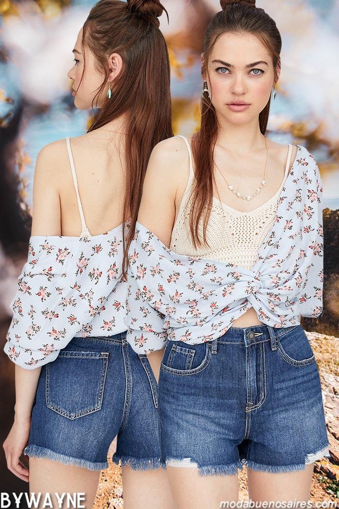 Trendencias de moda primavera verano 2020. Tops, blusas, shorts, vestidos, pantalones, faldas, ropa de mujer moda primavera verano 2020.
