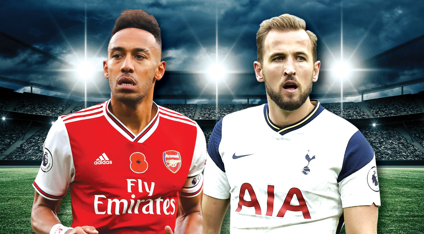 Pierre-Emerick Aubameyang and Harry Kane will look to inspire their sides to victory