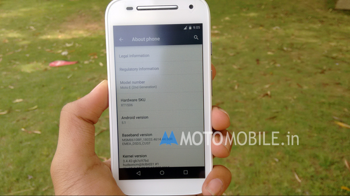 Moto E ( 2nd Gen ) Android 5.1 Lollipop