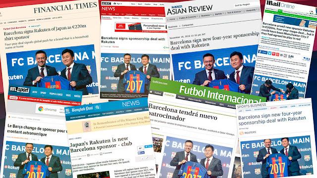 El acuerdo con Rakuten dispara la marca Barça a nivel mundial