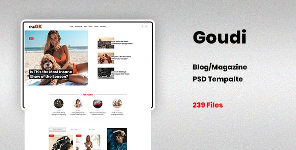 Best Blog Magazine PSD Template