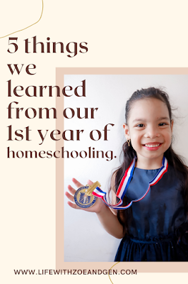5 things we learned from our first year of homeschooling. l Life with ZG l Homeschooling Blog