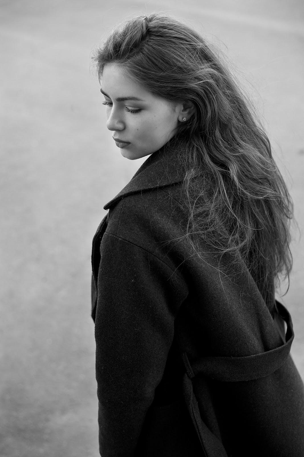 Черно-белый портрет. Фотография