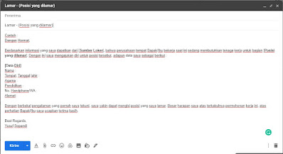 contoh lamaran kerja via email