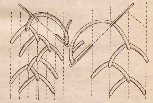 елочка шов для вышивки