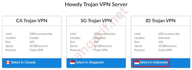 pilih server trojan vpn