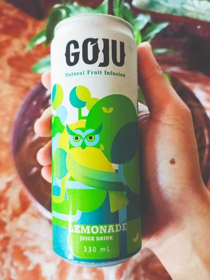 GoJu Natural Fruit Infusion lemonade drink