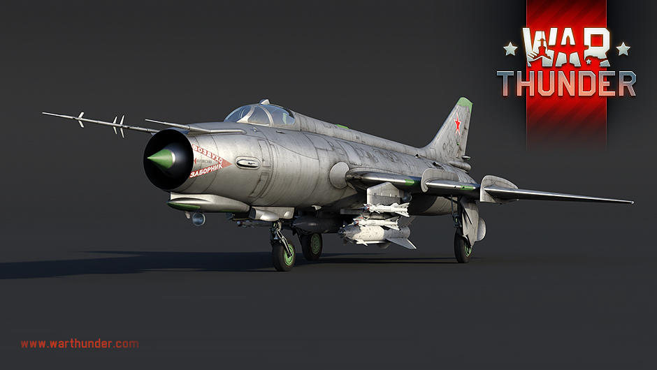 War Thunder - Soviet attack aircraft Su-17M2 with variable sweep wing