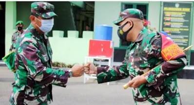 Dandim 0101/Aceh Besar Sambut Kedatangan Tim Wasrik Current Audit Itjenad TA 2021