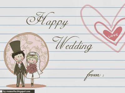 rosseetha's blog: Happy Wedding (Blank)