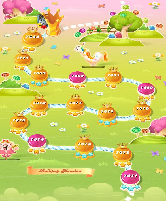 Candy Crush Saga level 7671-7685