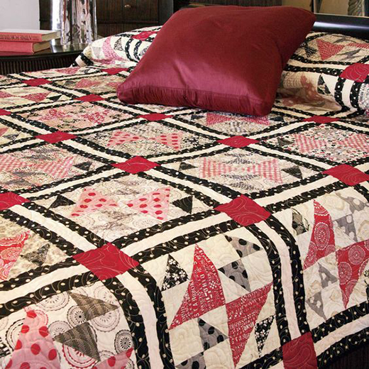 News Flash Classic Queen Size Quilt Free Pattern